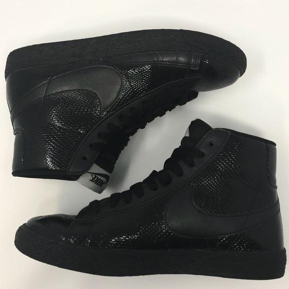 online store 3e35e d4439 Nike Blazer Mid Black Patent Leather Snake Sneaker.  M_5b6b3b78bf7729ecdf700621